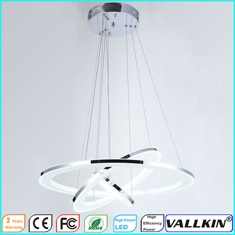 VALLKIN Modern LED Ring Pendant Light Hanging Ceiling Lamp