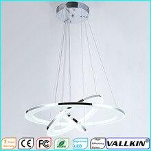 VALLKIN Moderno LED Anillo de Accesorios de La Lámpara de Techo Colgante de Luz Que Cuelga con 3 Anillos de DIY Forma Ac100 a 240 V CE FCC ROSH