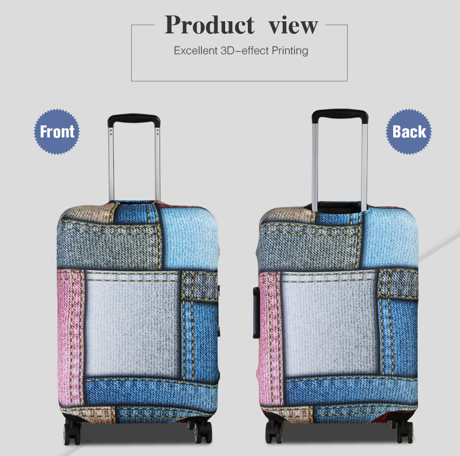 3D Dragonfly Pattern Print Luggage Protector Travel Luggage Cover Trolley Case Protective Cover Fits 18-32 Inch