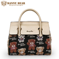 DANNY BEAR Vintage Women Handbags Brand Designers Female Tote Bags Fashion Top Handle Bags Ladies Handbag