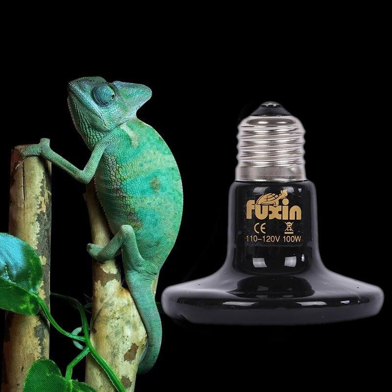 Pet Reptile Heating Bulb Infrared Ceramic Emitter Heat Lamps Pet Brooder Reptile Lamp 110/220V