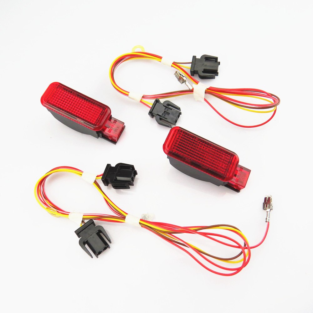 TUKE Car Interior Door Panel Red Warning Light & Cable Harness Plug For A7 A8 A3 A4 A5 A6 Q3 Q5 TT RS3 RS4 8KD947411 8KD 947 411