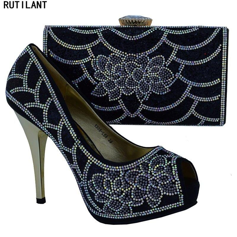 Africaines Italiennes Qualité Blakc Africaine La Avec Pour Et Ensembles Couleur Femmes Sac Partie Haute Chaussures Noir Assorti 7Ewq6rE