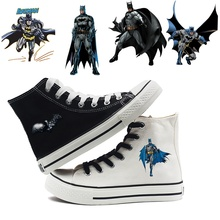 Printing The Dark Knight Batman Cool Cartoon high top breathable canvas uppers sneakers student personali fashion Casual shoes printing justice league hero cool cartoon logo high top breathable canvas uppers sneakers student personali fashion casual shoes