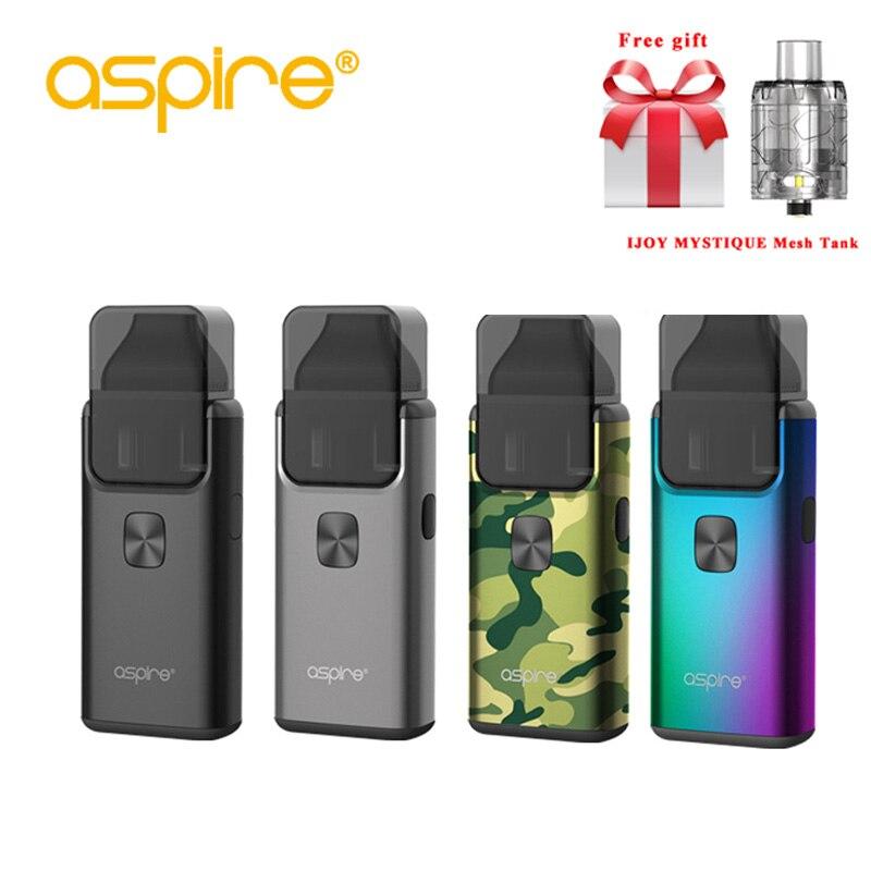 Freies geschenk Aspire Brise 2 AIO Kit Integrierte 1000 mah Batterie mit 2 ml/3 ml Tank Zerstäuber neueste elektronische Zigarette Vape Kit