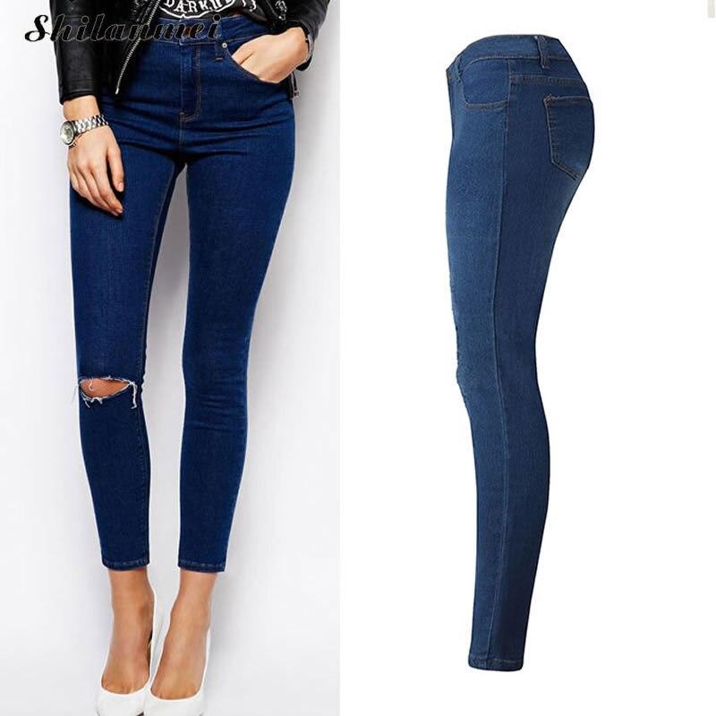 2017 new high waist boyfriend jeans for women skinny calcas feminina jeans  tiro alto mujer woman pantalon femme pants mujer xxl-in Jeans from Women's  ... 7e2d4afe7dc0
