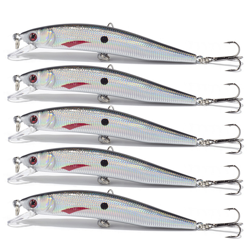 SEALURER Brand 5pc New design  Fishing lure 10cm/8.3g  Minnow Lures 5 color Crankbait Isca Artificial Floating Minnow Hard Bait wldslure 1pc 54g minnow sea fishing crankbait bass hard bait tuna lures wobbler trolling lure treble hook