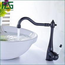 Черный смеситель для кухни, Кухня Поворотный Носик Одной ручкой раковина водопроводной воды, латунь керамический кухонный кран, mitigeur evier кухни