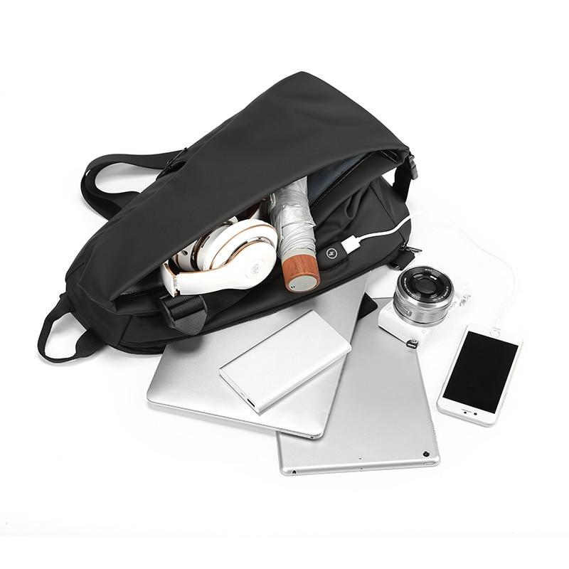EURCOOL Men Chest Bag For 12 inch ipad Multifunction Crossbody Bags USB Charging Travel Shoulder Bag Water Repellent n1850