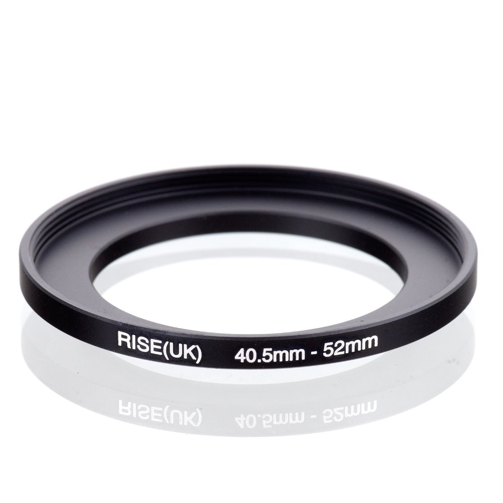 original RISE(UK) 40.5mm 52mm 40.5 52mm 40.5 to 52 Step Up Ring Filter Adapter black-in Lens Adapter from Consumer Electronics