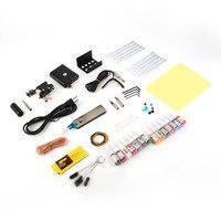 1Set Complete Equipment Tattoo Machine Gun Kit 14Color Inks Power Supply Cord Set Body Beauty Tattoo