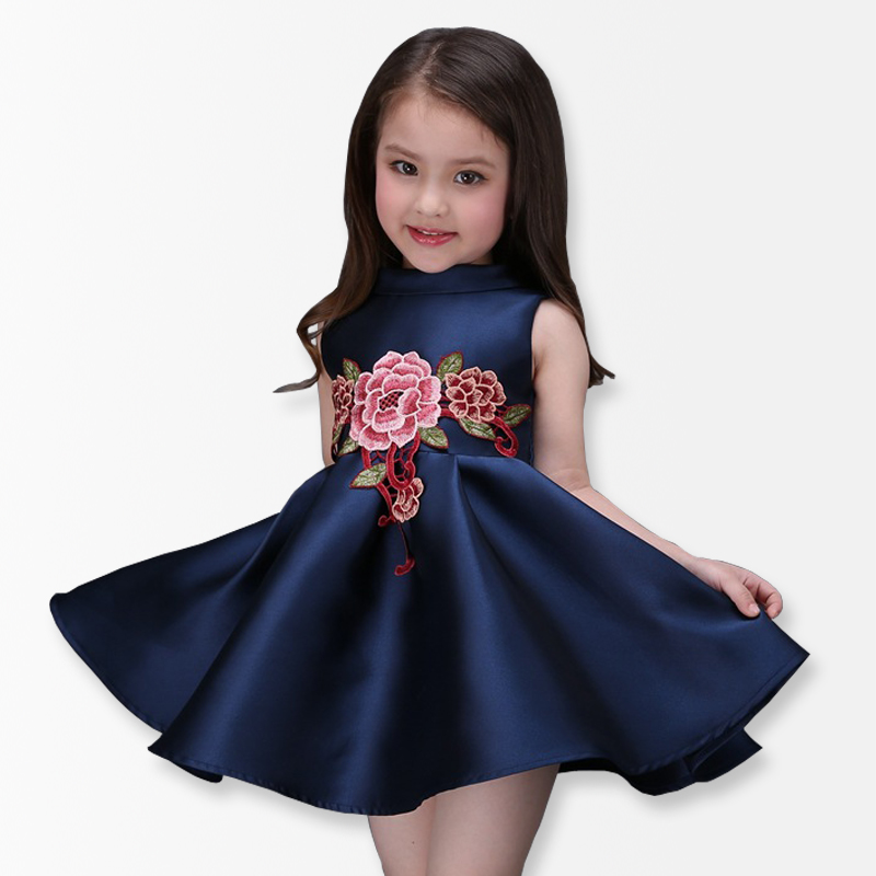 Girls Dresses Summer 2017 New Style Children Appliques Ball Gown Party Kids Dress Girls Clothes costume for kids 4pcs new for ball uff bes m18mg noc80b s04g