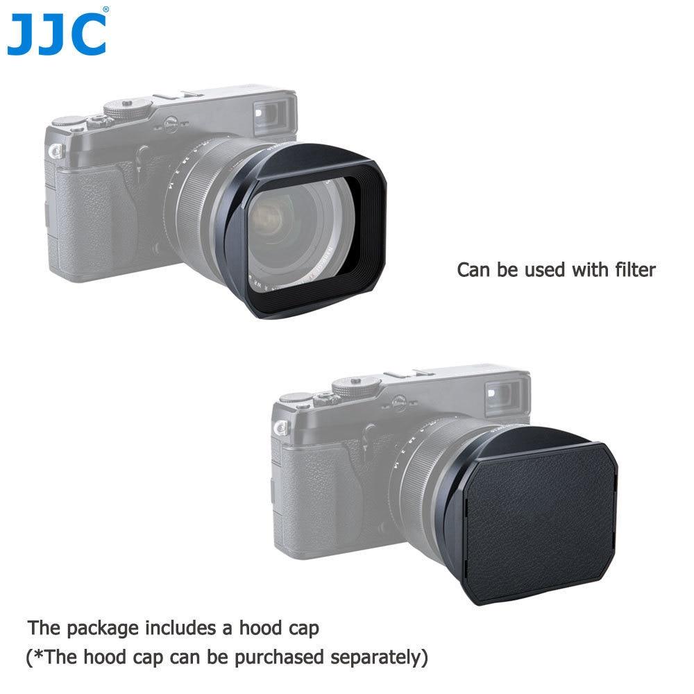JJC Black Square Camera Lens Hood 62mm for FUJINON LENS XF23mm F1.4 R WR Replaces LH-XF23 jjc lh 60c t diy 58mm abs lens hood for canon ew 60c dslr camera black