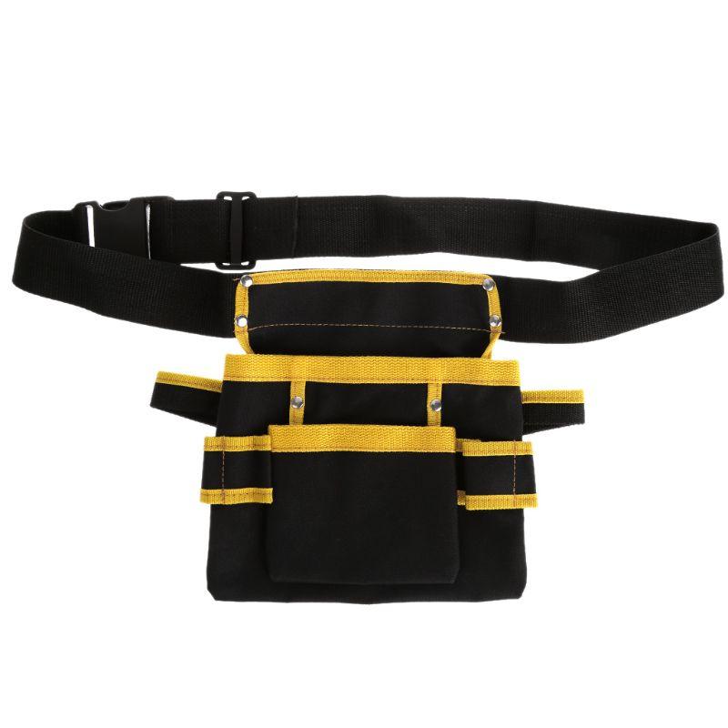 5 Arten Elektriker Werkzeug Tasche Taille Tasche Utility Pouch Gürtel Lagerung Inhaber Organizer Oxford Tuch Split Leder Werkzeug Organisatoren