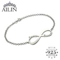 Wholesale Infinity Name Bracelet Personalized Name Bracelet Infinity Symbol Sterling Silver Customized Name Bracelet