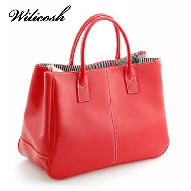 Wilicosh Hot Sale Women Bag Fashion PU Leather Women's Handbags Bolsas Top-Handl