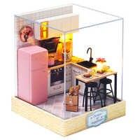 DIY mueble miniatura para Casa de muñecas Miniaturas de madera caja de muñecas juguetes para niños regalos de cumpleaños Casa semillas mundo QT27