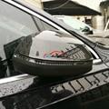 Lateral del coche Retrovisor Hacia Atrás Ajuste de La Cubierta Mate de Plata Brillante Aspecto de Fibra De carbono Cromo del ABS 2 P Para Audi Q7 4 M 2016 2017