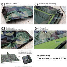 3 in 1 Camouflage Raincoat Backpack Rain Cover Shelter