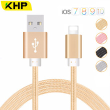 KHP Micro USB Cable Stable Data Transmission Metal Plug Nylon Braided Wire Fast Charging Mini Usb Cable For Cellular Phones 5