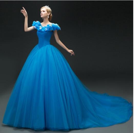 Online Get Cheap Cinderella Gown Aliexpress Com: Aliexpress.com : Buy Hot Sale 2015 New Movie Deluxe Blue