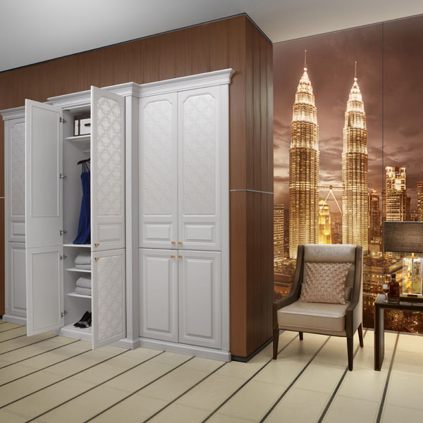 US $3110.0 |New Design Oppein Famous Unique Cheap Corner Bedroom Cloth  Wardrobe YG41459-in Wardrobes from Furniture on AliExpress