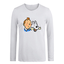 Tintin And Snowy Interesting Origin Characters Funny T Shirt for Men Women Muscle Man T-shirt Girl's Boy's Tshirt Holiday Tops