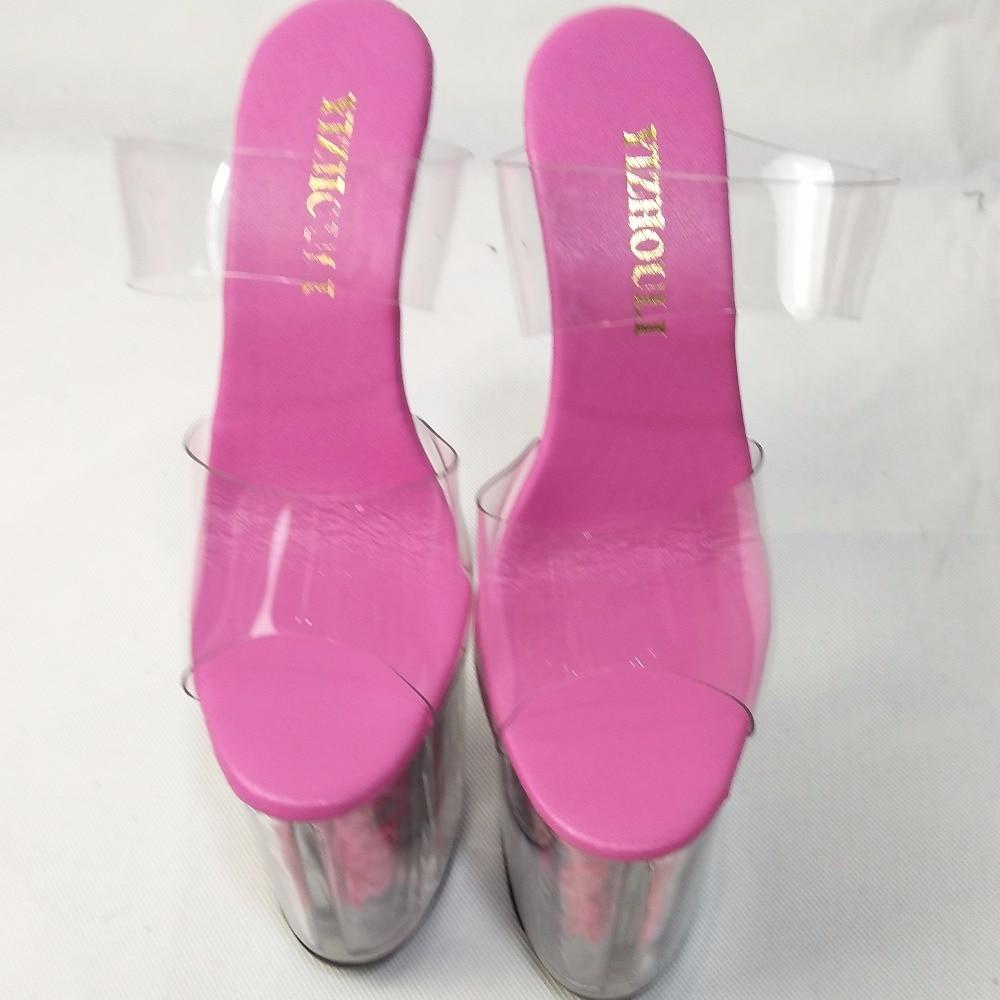 ୧ʕ ʔ୨Completo zapatillas de cristal transparentes románticos ...
