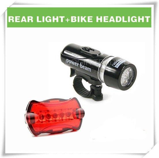 водонепроницаемый из светодиодов велосипед головного света + фонарик лы-6059