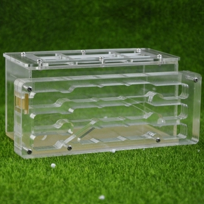 DIY Ant Housing Nest Toy Insect Cage Farms Feed Plastic Acrylic Display Trapezoid Box Ant Villa Nest Building Pet Ant Home Cages