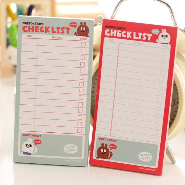 E35 Conejo Lindo Notebook Lista de Verificación Escuela Papelería ...