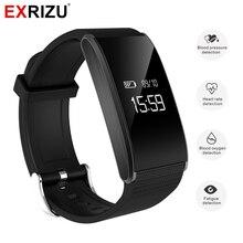 Exrizu A58 сердечного ритма SmartBand крови Давление часы браслет кислорода в крови монитор Шагомер Водонепроницаемый браслет дистанционного Камера
