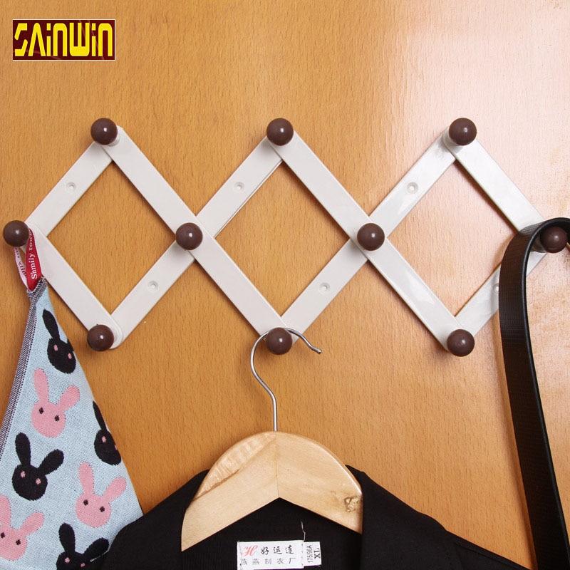 free shipping wall hanger rhombus retractable hangers door after seamless hook coat hooks strong adhesive - Retractable Coat Hook