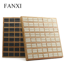 FANXI New Arrivals Jewelry display Soild wood ring display tray for Jewelry shop 2 color Jewelry tray for choose