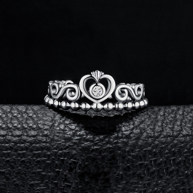 Princess Crown Sterling Silver Ring