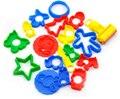18pcs/set Play Dough Model Tool Toys Creative 3D Plasticine Tools Playdough Set paper clay play dough