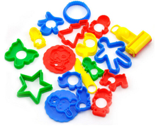 18pcs set Play Dough Model Tool Toys Creative 3D Plasticine Tools Playdough Set paper clay play