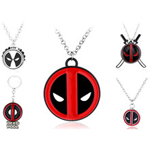 Marvel Movie Deadpool Mask Bottle Opener Pendant Necklace The Avengers Endgame Superhero Statement Necklaces Jewelry Gift Fans(China)