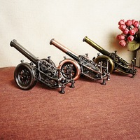 Door Shaped Mortar Cannon Weapon In Qing Dynasty Pure Hand Wrought Iron Cannon Retro Model