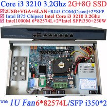 Office router Intel Core i3 3210 CPU firewall server for htpc education hotel 2G RAM 8G