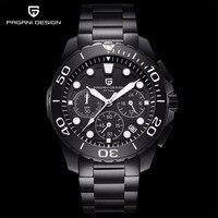 Pagani Роскошные Кварцевые Для мужчин часы Водонепроницаемый спортивные часы военные мужские наручные часы Бизнес стали часы для Для мужчин