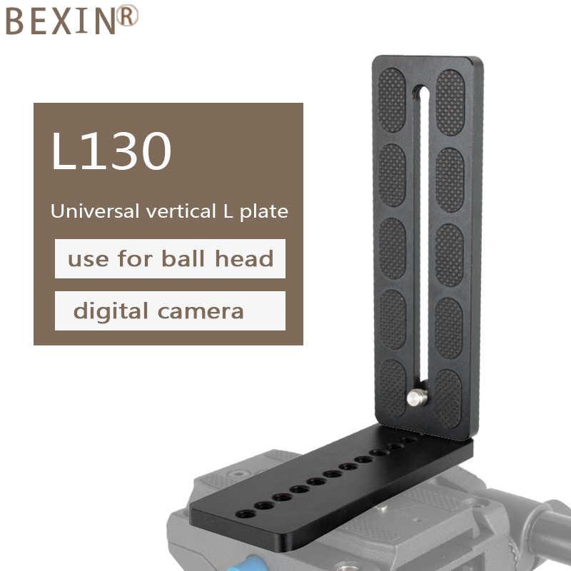 Metal Universal placa de liberación rápida L-Forma Con Zapata Para Hydraulic Ballhead