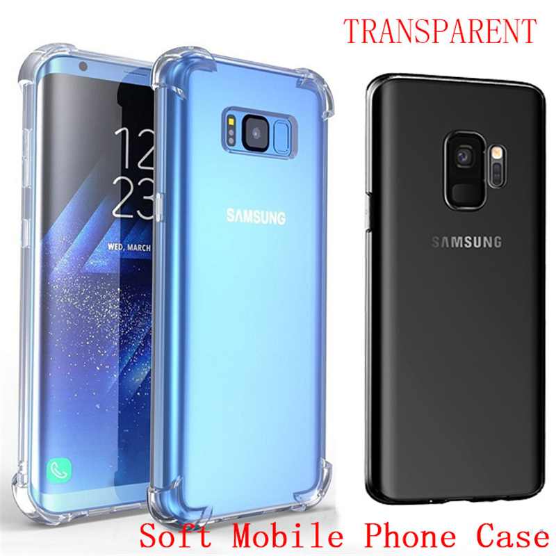 Shockproof Clear Soft Silicone Anti-Knock Cases For Samsung Galaxy Note 8 J3 J5 J7 A5 A5 A7 2017 2016 S9 S8 Plus S7 S6 Edge Case