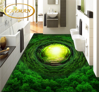Custom 3D Nature Wallpapers Magic Dream Fairyland Dawn Green Beautiful Forest Gloden Fantasy Road 3D Waterproof