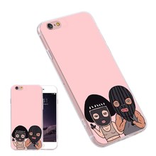 Color Print Bag Cover For Samsung S6 S7 Edge Plus Note7 A7 J7 E5 S5 Funny Robber Silicone Rubber