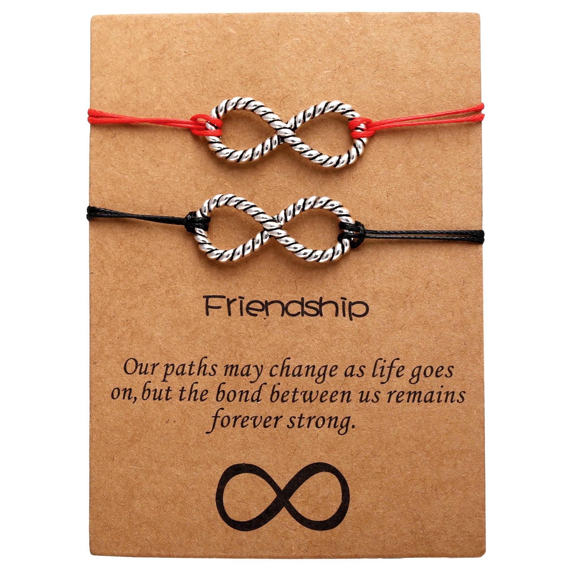 Doreen Hộp Cổ Điển Lovers 'Vòng Tay Thiết Lập Phụ Nữ Người Đàn Ông Geoemtric Vô Hạn Knot Tim Rope Vòng Đeo Tay Người Bạn Tốt Nhất Vòng Đeo Tay, 2 cái/bộ
