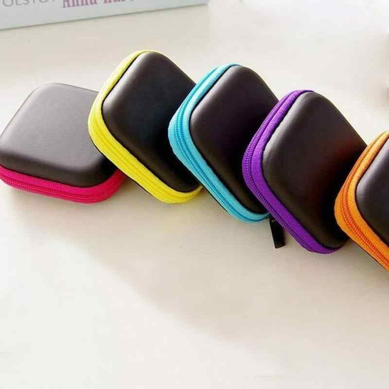 1pc Mobile Phone Data Cable Charger Storage Box Headset Package Storage Bag Portable Earbuds Pouch Box Storage Organizer