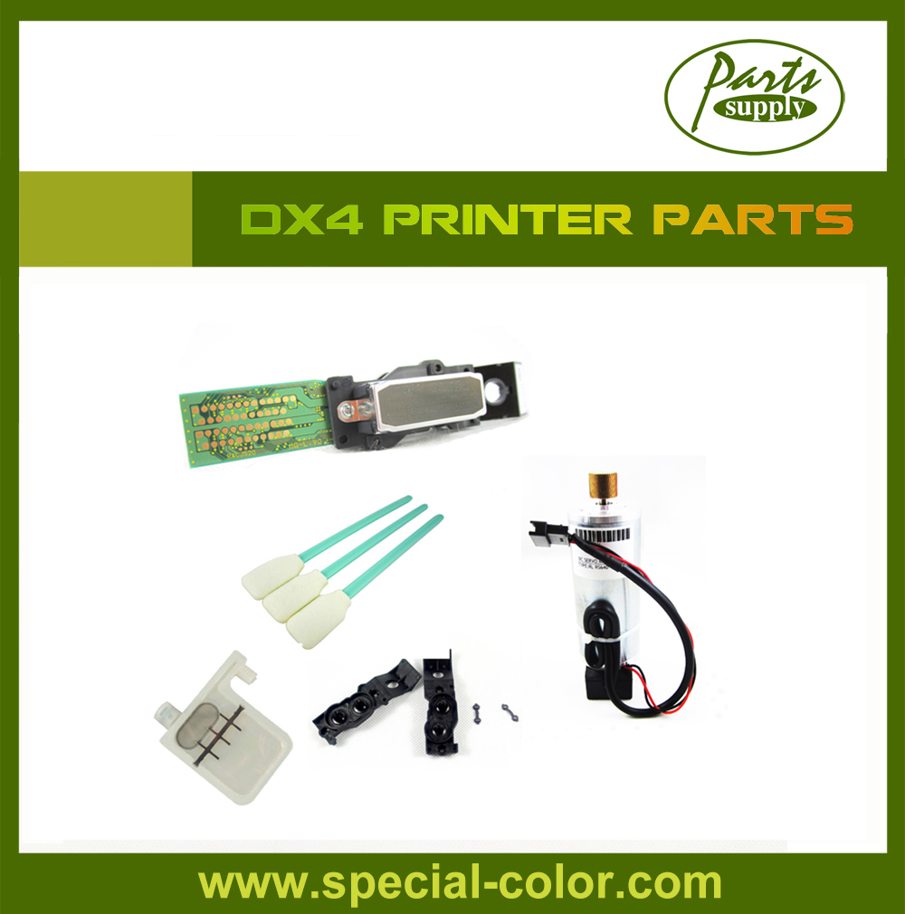 Roland RS640/VP540/300/Parts 1pc DX4 solvent Printhead+DX4 Scan Motor+Eco Solvent Big Damper with DX4 Head Manifold roland scan motor for vp 540i