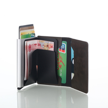 New Automatic Pop Up Credit Card Holder Men Aluminum Alloy Business ID Holders Slim Wallet for Fashion card holder
