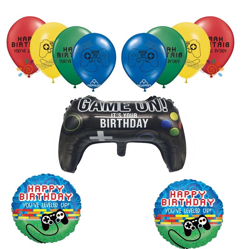 Игровой контроллер из майларовой фольги, игровой воздушный шар на джойстике, воздушный шар, украшение для дня рождения, детские игрушки